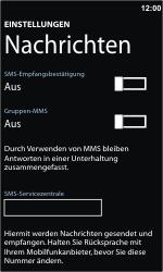 Nokia Lumia 800 - SMS - Manuelle Konfiguration - 6 / 8
