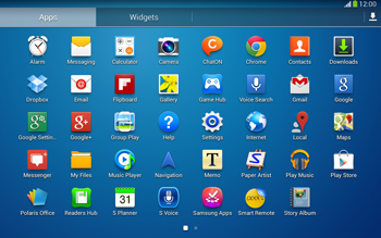 Samsung Galaxy Tab 3 10-1 LTE - Getting started - Installing widgets and applications on your start screen - Step 6
