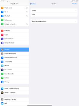 Apple iPad Pro 12.9 (1st gen) - ipados 13 - Operazioni iniziali - Come aggiungere una lingua alla tastiera - Fase 6