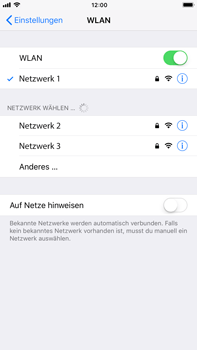 Apple iPhone 6 Plus - iOS 11 - WLAN - Manuelle Konfiguration - Schritt 7