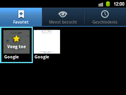 Samsung B5510 Galaxy TXT - Internet - Hoe te internetten - Stap 7