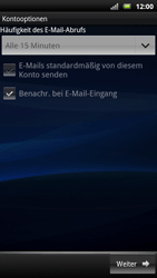Sony Ericsson Xperia X10 - E-Mail - Konto einrichten - Schritt 14
