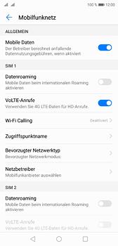 Huawei P20 - Internet und Datenroaming - Prüfen, ob Datenkonnektivität aktiviert ist - Schritt 6