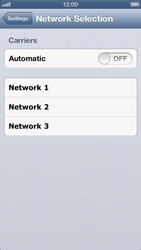 Apple iPhone 5 - Network - Manual network selection - Step 7