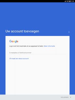 Samsung Galaxy Tab S2 9.7 - Android Nougat - Applicaties - Account aanmaken - Stap 4
