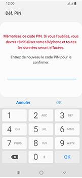 Samsung Galaxy A40 - Sécuriser votre mobile - Activer le code de verrouillage - Étape 9