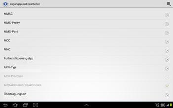 Samsung N8000 Galaxy Note 10-1 - Internet - Manuelle Konfiguration - Schritt 13