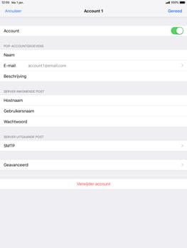 Apple ipad-9-7-ios-12 - E-mail - Account instellen (POP3 met SMTP-verificatie) - Stap 21
