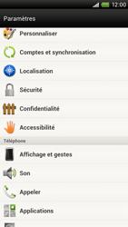 HTC S720e One X - Messagerie vocale - configuration manuelle - Étape 5