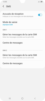 Samsung Galaxy A70 - SMS - configuration manuelle - Étape 11