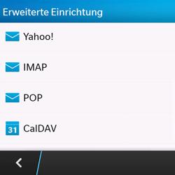 BlackBerry Q10 - E-Mail - Konto einrichten - Schritt 7