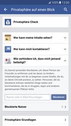 Samsung Galaxy S7 - Datenschutz und Sicherheit - Datenschutzeinstellungen von Facebook ändern - 27 / 35