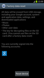 Samsung I9300 Galaxy S III - Device - Factory reset - Step 7