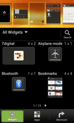 HTC Desire X - Getting started - Installing widgets and applications on your start screen - Step 3