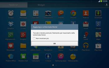 Samsung Galaxy Tab 3 10-1 LTE - Operazioni iniziali - Installazione di widget e applicazioni nella schermata iniziale - Fase 5