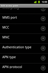 Alcatel OT-983 - MMS - Manual configuration - Step 12