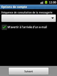 Samsung Galaxy Pocket - E-mail - Configuration manuelle - Étape 14