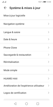 Huawei Y5P - Aller plus loin - Restaurer les paramètres d'usines - Étape 4