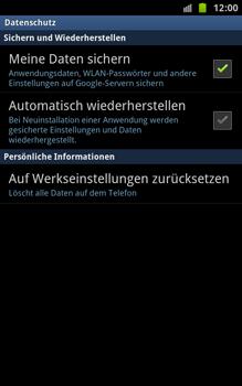 Samsung N7000 Galaxy Note - Fehlerbehebung - Handy zurücksetzen - Schritt 7