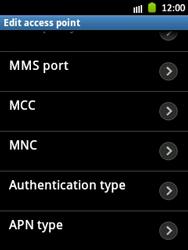 Samsung S5300 Galaxy Pocket - MMS - Manual configuration - Step 13