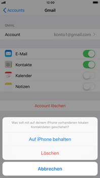 Apple iPhone 8 Plus - Kontakte - Sicherheitskopie des Geräts mit OS-Konto erstellen - 9 / 11