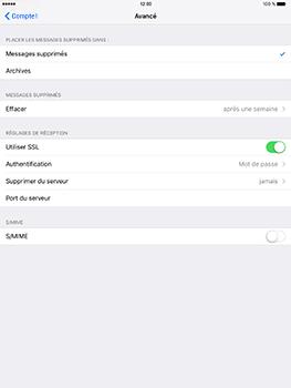 Apple iPad Pro 9.7 - iOS 10 - E-mail - Configurer l