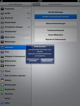 Apple iPad Retina - Gerät - Zurücksetzen auf die Werkseinstellungen - Schritt 7