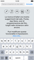 Apple iPhone 5s iOS 10 - Internet e roaming dati - Uso di Internet - Fase 4