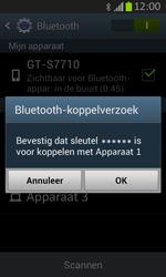 Samsung S7710 Galaxy Xcover 2 - Bluetooth - koppelen met ander apparaat - Stap 9