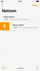 Apple iPhone SE - iOS 11 - Neue Funktionen der Notizen - 25 / 26
