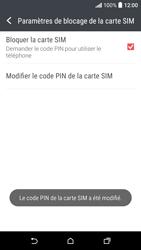 HTC Desire 530 - Sécuriser votre mobile - Personnaliser le code PIN de votre carte SIM - Étape 10