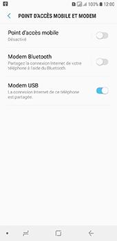 Samsung Galaxy A6 - Internet et connexion - Utiliser le mode modem par USB - Étape 9
