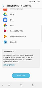 Samsung Galaxy S8 - Android Oreo - Dispositivo - Ripristino delle impostazioni originali - Fase 8