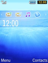 Samsung S5610 Primo - Messagerie vocale - configuration manuelle - Étape 1