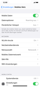 Apple iPhone X - iOS 13 - Internet und Datenroaming - Manuelle Konfiguration - Schritt 8
