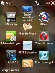 HTC T3333 Touch II - Internet - Hoe te internetten - Stap 2