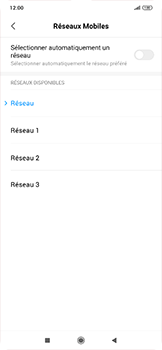 Xiaomi RedMi Note 7 - Réseau - Sélection manuelle du réseau - Étape 11
