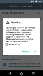 Sony Xperia XA - Internet et roaming de données - Comment vérifier que la connexion des données est activée - Étape 6