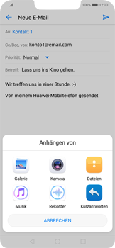Huawei Mate 20 Lite - E-Mail - E-Mail versenden - 11 / 18