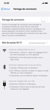 Apple iPhone XS - iOS 12 - Internet et connexion - Partager votre connexion en Wi-Fi - Étape 6