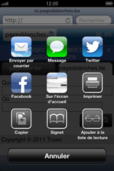 Apple iPhone 4 S - iOS 6 - Internet - navigation sur Internet - Étape 10