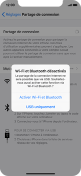 Apple iPhone X - Internet et connexion - Utiliser le mode modem par USB - Étape 6