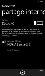 Nokia Lumia 635 - Internet et connexion - Partager votre connexion en Wi-Fi - Étape 5