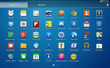 Samsung Galaxy Tab 3 10-1 LTE - Operazioni iniziali - Installazione di widget e applicazioni nella schermata iniziale - Fase 6