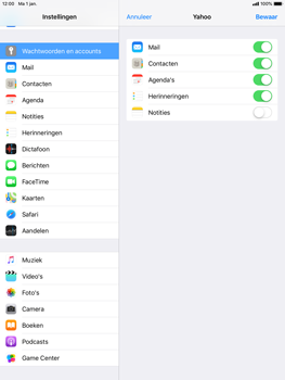 Apple iPad Air 2 - iOS 12 - E-mail - Handmatig instellen (yahoo) - Stap 8