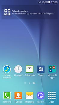 Samsung Galaxy A8 - Operazioni iniziali - Installazione di widget e applicazioni nella schermata iniziale - Fase 3
