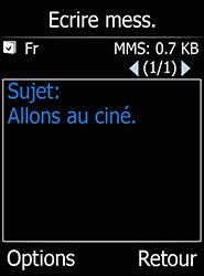 Doro 6520 - Contact, Appels, SMS/MMS - Envoyer un MMS - Étape 10