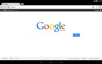 Sony Xperia Tablet Z2 4G (SGP521) - Internet - Hoe te internetten - Stap 8