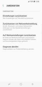 Samsung Galaxy S8 - Fehlerbehebung - Handy zurücksetzen - 8 / 12
