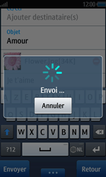 Samsung Wave 2 - E-mails - Envoyer un e-mail - Étape 12